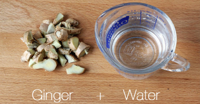 Drink Ginger Water to Slim Down Your Midsection and Thighs